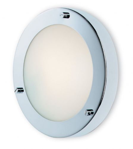 Firstlight 2745CH Chrome with Opal Glass Rondo Wall / Flush Fitting